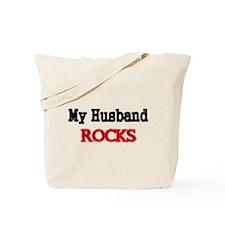 My Husband Rocks Tote Bag