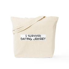Survived Dating Jeffrey Tote Bag