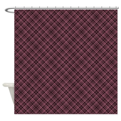 red plaid d1 shower curtain by marlodeedesignsshowercurtains