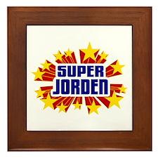 Jorden the Super Hero Framed Tile