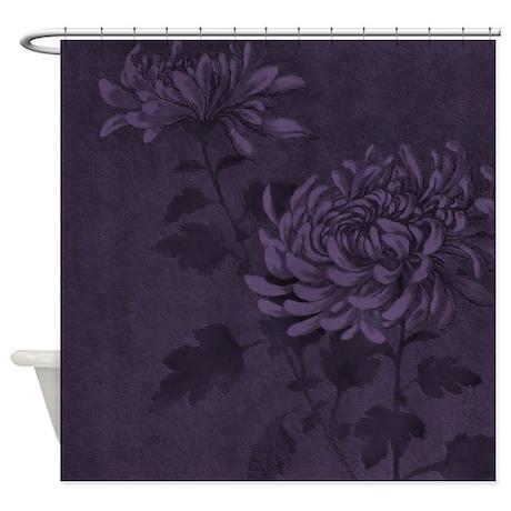 dark purple floral d1 shower curtain by marlodeedesignsshowercurtains. Black Bedroom Furniture Sets. Home Design Ideas