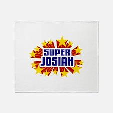 Josiah the Super Hero Throw Blanket