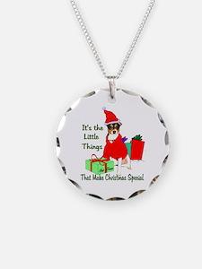 Rat Terrier Christmas Necklace