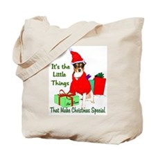 Rat Terrier Christmas Tote Bag