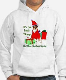 Rat Terrier Christmas Jumper Hoody