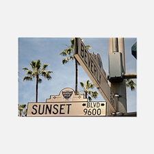 Sunset Blvd 9600 Rectangle Magnet