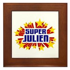 Julien the Super Hero Framed Tile