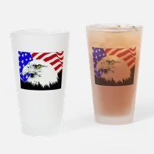 4th of july eagle_flag Drinking Glass