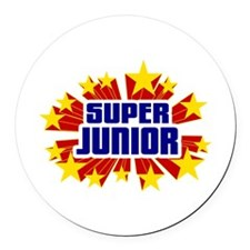 Junior the Super Hero Round Car Magnet