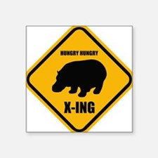 Hungry Hippo Crossing ONLY Sticker