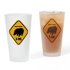 Hungry Hippo Crossing ONLY Drinking Glass