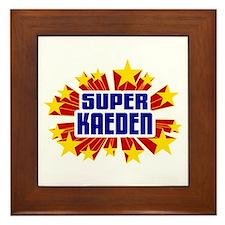 Kaeden the Super Hero Framed Tile