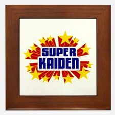 Kaiden the Super Hero Framed Tile