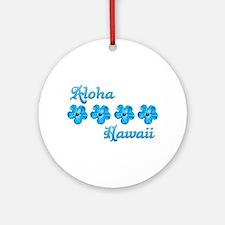Aloha Hawaii Ornament (Round)