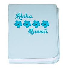 Aloha Hawaii baby blanket