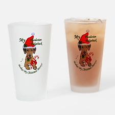 Rhodesian Ridgeback Christmas Drinking Glass