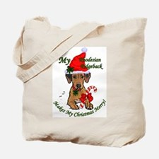 Rhodesian Ridgeback Christmas Tote Bag