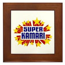 Kamari the Super Hero Framed Tile