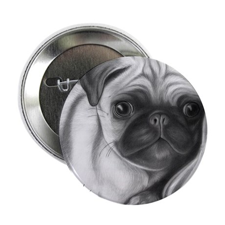 "pug puppy 2.25"" Button (100 pack)"