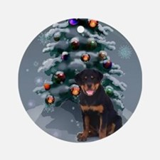 Rottweiler Christmas Ornament (Round)