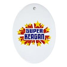 Keagan the Super Hero Ornament (Oval)