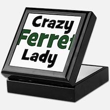 Crazy Ferret Lady Keepsake Box