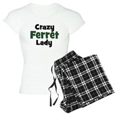 Crazy Ferret Lady Pajamas