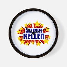 Kellen the Super Hero Wall Clock