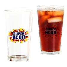 Keon the Super Hero Drinking Glass