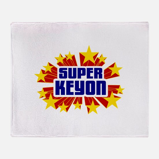 Keyon the Super Hero Throw Blanket