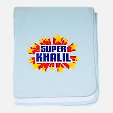 Khalil the Super Hero baby blanket
