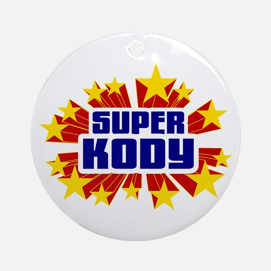 Kody the Super Hero Ornament (Round)