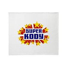 Kody the Super Hero Throw Blanket