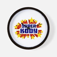 Kody the Super Hero Wall Clock
