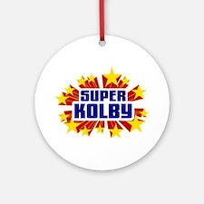 Kolby the Super Hero Ornament (Round)