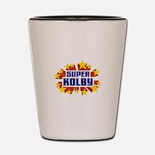 Kolby the Super Hero Shot Glass