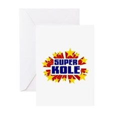 Kole the Super Hero Greeting Card