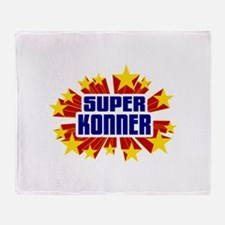 Konner the Super Hero Throw Blanket