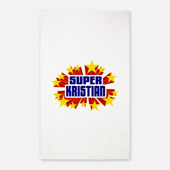 Kristian the Super Hero 3'x5' Area Rug