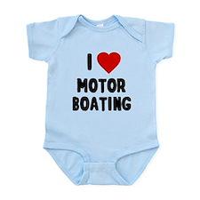 I Love Motor Boating Body Suit
