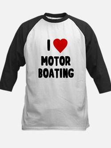 I Love Motor Boating Baseball Jersey