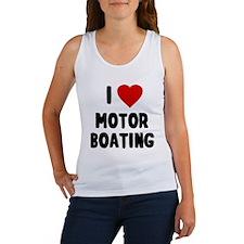 I Love Motor Boating Tank Top