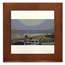 El Porto Beach Scene Framed Tile