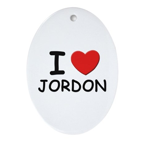 I love Jordon Oval Ornament