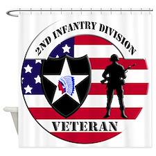 1st Infantry Division Veteran Shower Curtain