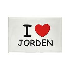 I love Jorden Rectangle Magnet