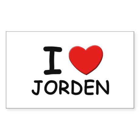 I love Jorden Rectangle Sticker