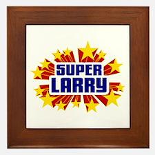 Larry the Super Hero Framed Tile