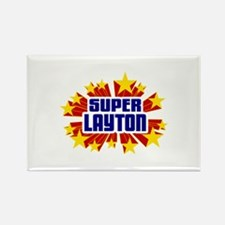 Layton the Super Hero Rectangle Magnet