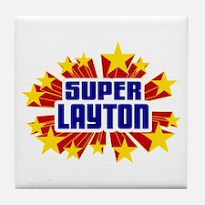 Layton the Super Hero Tile Coaster